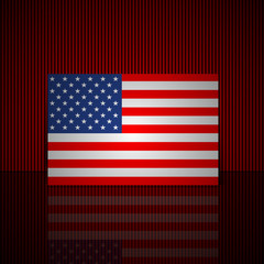 Background of American flag. Vector illustration.