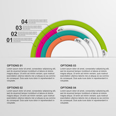 Modern circle infographic. Design elements