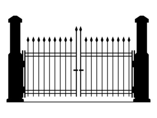Gate vector silhouette