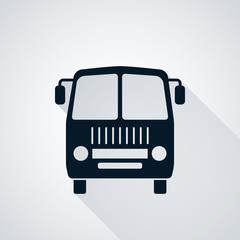 Bus flat vector illustration