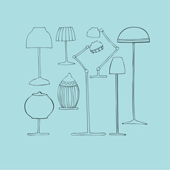 illustrated lamps