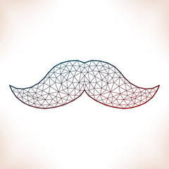 Geometric mustache.