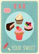 Sweets retro poster