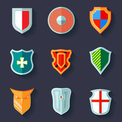 Shield icon flat
