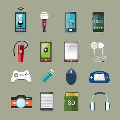 Gadget icons set