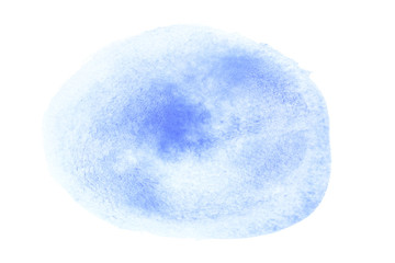 Oval watercolor brush stroke