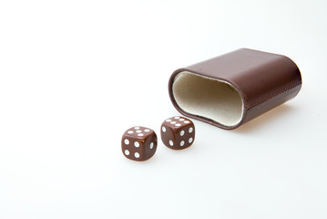 Brown pair of dice