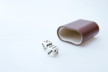 White pair of dice