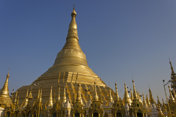 Around Shwedagon Pagoda, Yangoon, Myanmar