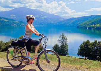 biking around the lake