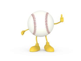 野球ボールキャラクター