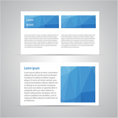 Brochure page vector design template