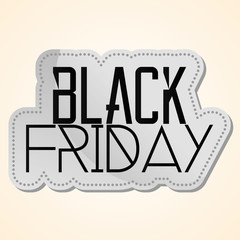 Black Friday Sticker Isolated On Background