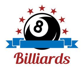 Billiard sport symbol