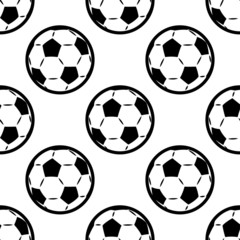 Seamless background pattern of footballs