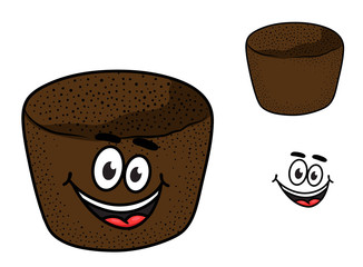 Cartoon rye brown bread