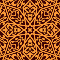 Islamic or Arabic seamless pattern