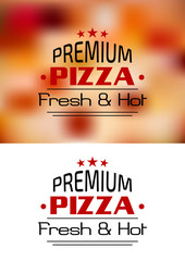 Premium Pizza Fresh and Hot poster design