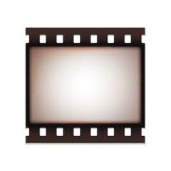 Blank realistic vintage retro old film strip