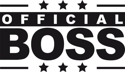 Cool Official Boss Logo Design