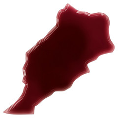 A pool of blood (or wine) that formed the shape of Moroco. (seri