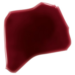 A pool of blood (or wine) that formed the shape of Rwanda. (seri