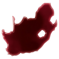 A pool of blood (or wine) that formed the shape of South Africa.