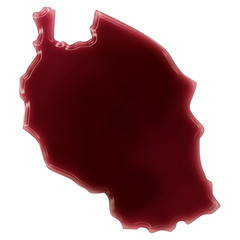 A pool of blood (or wine) that formed the shape of Tanzania. (se