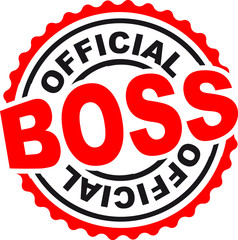 Official Boss Stempel Abdruck
