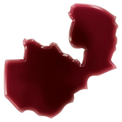 A pool of blood (or wine) that formed the shape of Zambia. (seri