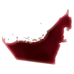 A pool of blood (or wine) that formed the shape of United Arab E