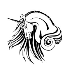 Silhouette of unicorn
