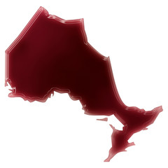 A pool of blood (or wine) that formed the shape of Ontario. (ser