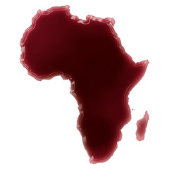 A pool of blood (or wine) that formed the shape of Africa. (seri