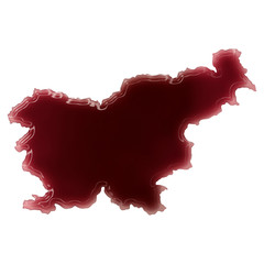 A pool of blood (or wine) that formed the shape of Slovenia. (se