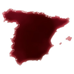 A pool of blood (or wine) that formed the shape of Spain. (serie