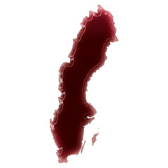 A pool of blood (or wine) that formed the shape of Sweden. (seri