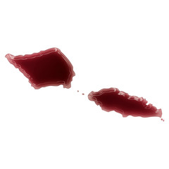 A pool of blood (or wine) that formed the shape of Samoa. (serie