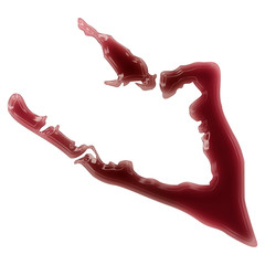 A pool of blood (or wine) that formed the shape of Wake Island.