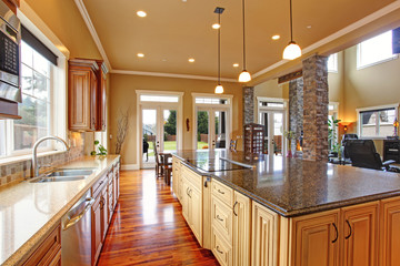 Kitchen interior in luxury house