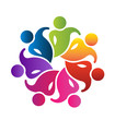 Vector teamwork party people business icon logo