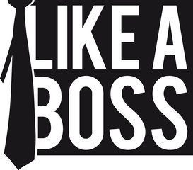 Cool Like A Boss Tie Logo Design