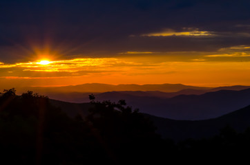Sunrise Over the Blue Ridge