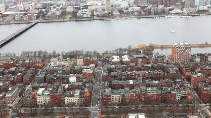 A view of the city of Boston, Massachusetts along the Charles Ri