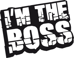 Cool I´m The Boss Logo Design