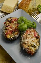Melanzane ripiene Patlıcan dolması Stuffed aubergines