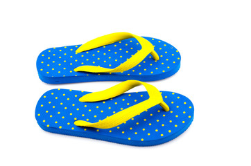 Flip flops isolated white background