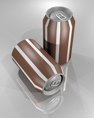 Brown cans