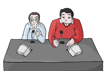 Presenters cartoon