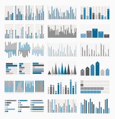 Big set of infographics elements